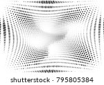 abstract halftone dotted grunge ... | Shutterstock .eps vector #795805384