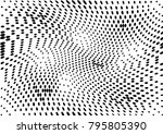 abstract halftone dotted grunge ... | Shutterstock .eps vector #795805390