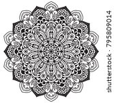 black and white mandala vector... | Shutterstock .eps vector #795809014