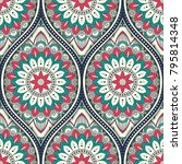 seamless pattern with ethnic... | Shutterstock .eps vector #795814348