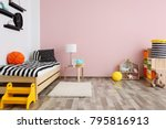 children room interior with... | Shutterstock . vector #795816913