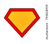bright superhero color logo... | Shutterstock .eps vector #795818959