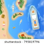 summer cruise vacation with... | Shutterstock .eps vector #795819796