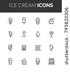 Outline Black Icons Set In Thi...
