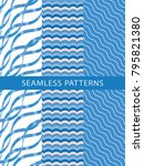 seamless wave pattern. abstract ... | Shutterstock .eps vector #795821380
