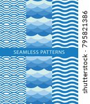 seamless wave pattern. abstract ... | Shutterstock .eps vector #795821386