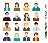 collection of cartoons   human... | Shutterstock .eps vector #795823699