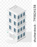 isometric high quality city...   Shutterstock .eps vector #795824158
