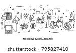 modern editable line vector... | Shutterstock .eps vector #795827410