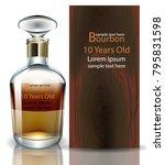 bourbon bottle realistic vector.... | Shutterstock .eps vector #795831598