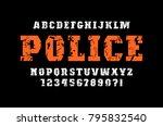 decorative slab serif font in... | Shutterstock .eps vector #795832540