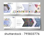 set of business templates for... | Shutterstock .eps vector #795833776