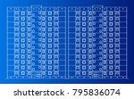 apartment building vector | Shutterstock .eps vector #795836074