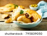 homemade turnovers in latin... | Shutterstock . vector #795839050