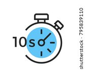 stopwatch seconds icon | Shutterstock .eps vector #795839110