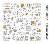 vector line web banner for... | Shutterstock .eps vector #795842083