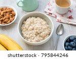 porridge oats  scottish oats or ... | Shutterstock . vector #795844246