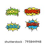 collection of bright  colorful  ... | Shutterstock .eps vector #795844948