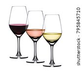 3 Glasses Wine Red Ros - Fine Art prints