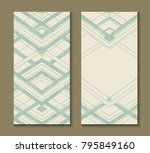 set of cards with art deco... | Shutterstock .eps vector #795849160