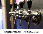 selective of pump of fresh beer | Shutterstock . vector #795852313