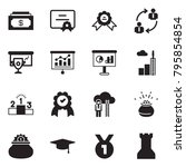 solid black vector icon set  ... | Shutterstock .eps vector #795854854