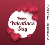 happy valentines day greeting... | Shutterstock .eps vector #795855640