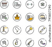 line vector icon set   duty... | Shutterstock .eps vector #795857290