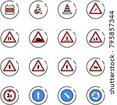line vector icon set   sign... | Shutterstock .eps vector #795857344