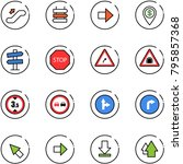 line vector icon set  ... | Shutterstock .eps vector #795857368