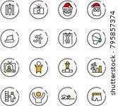 line vector icon set   metal...   Shutterstock .eps vector #795857374