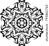 tribal tattoo design vector art | Shutterstock .eps vector #795861763