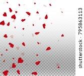 3d hearts. left gradient on... | Shutterstock .eps vector #795863113