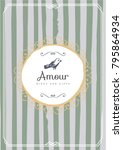 vintage creative card template... | Shutterstock .eps vector #795864934