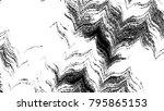 black and white horizontal wavy ... | Shutterstock . vector #795865153