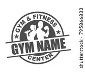 fitness center logo | Shutterstock .eps vector #795866833