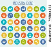 big industry icon set | Shutterstock .eps vector #795866893