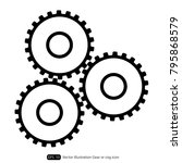 gear or cog icon on a white... | Shutterstock .eps vector #795868579