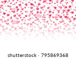 background with hearts.... | Shutterstock . vector #795869368