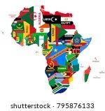 vector political map of africa... | Shutterstock .eps vector #795876133