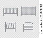 vector set of realistic... | Shutterstock .eps vector #795880804