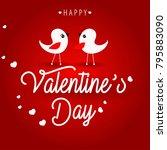 happy valentine's day romantic...   Shutterstock .eps vector #795883090