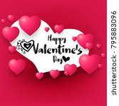 happy valentine's day romantic...   Shutterstock .eps vector #795883096