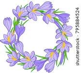 spring flower wreath of... | Shutterstock .eps vector #795884524