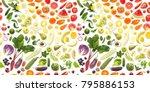seamless pattern of various... | Shutterstock . vector #795886153