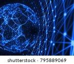 futuristic virtual technology... | Shutterstock . vector #795889069