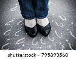 Woman In Shoes Standing On The...