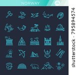 city sights vector icons.... | Shutterstock .eps vector #795894574