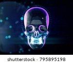 abstract skull skull on ... | Shutterstock . vector #795895198