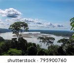 view from above on the amazon... | Shutterstock . vector #795900760